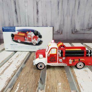 Department 56 54952 Fire Truck Car Snow Village Ho